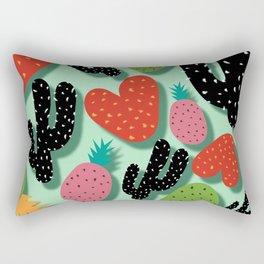 Cactus Love and Pineapples Rectangular Pillow