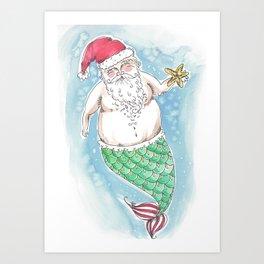 Mer-Santa Art Print