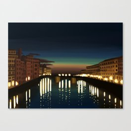 The Arno River Canvas Print