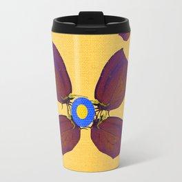 butterfly flowers Travel Mug