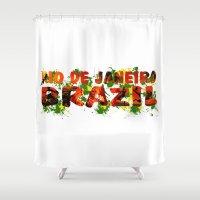 rio de janeiro Shower Curtains featuring Rio de Janeiro by J. Ekstrom