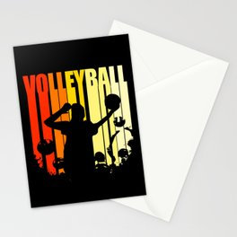 Volleyball Retro Vintage Colorful Ball Team Sports Stationery Cards