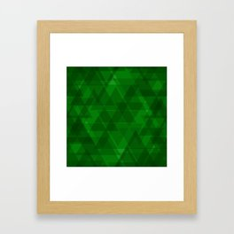 Bright green triangles in intersection and overlay. Framed Art Print