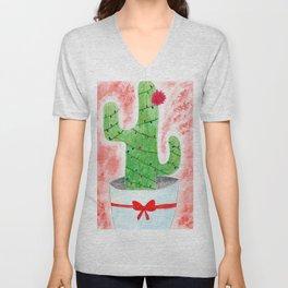 Christmas Cactus Unisex V-Neck