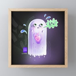 Tiny Ghost, Trying His Best Framed Mini Art Print