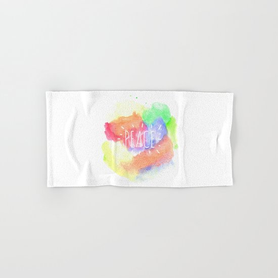 peace watercolour Hand & Bath Towel