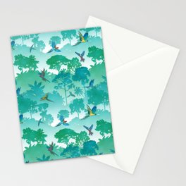 Macaw Canopy // Cyan Stationery Cards
