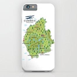 Cumbria England Map iPhone Case