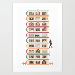 Ten Stories High Art Print