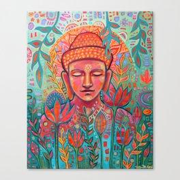 Buddha in Bloom Canvas Print