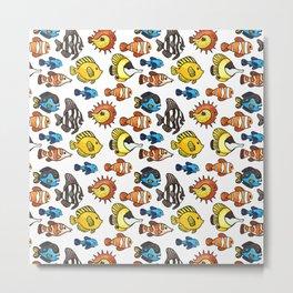 Tropical Fish Pattern Metal Print