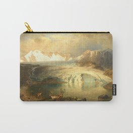 Fjord Landscape with Glacier and Reindeer Carry-All Pouch