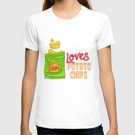 Chips Snacks Gift Snaccident Potato Chips T-shirt