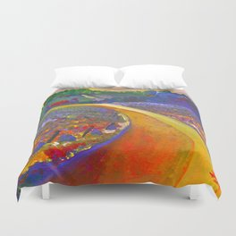 The Road to Chateau Chantal Duvet Cover