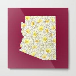 Arizona in Flowers Metal Print