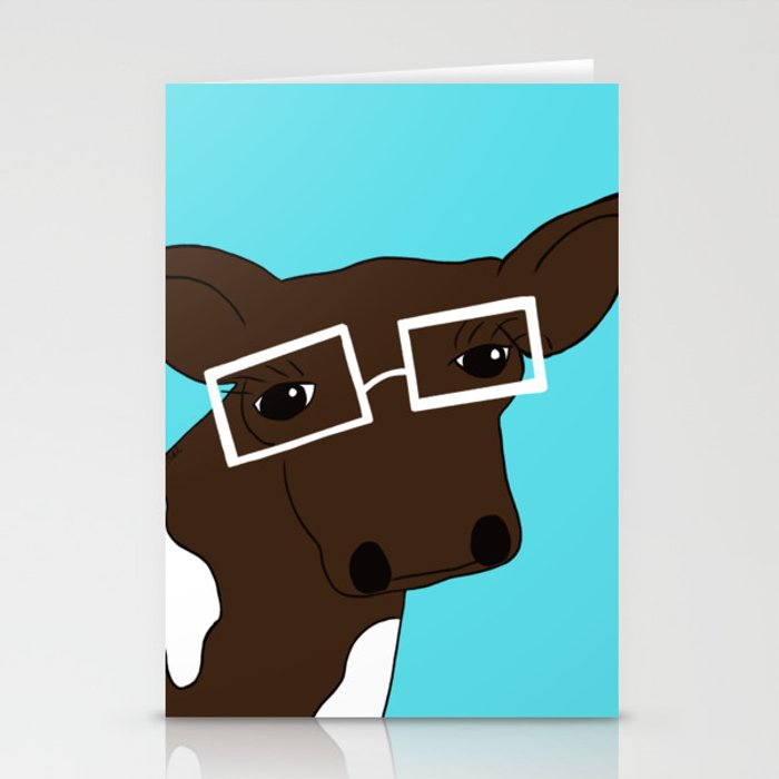 Matilda the Hipster Cow Stationery Cards