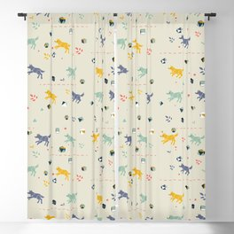 Polyhedral Dice- Wolves Blackout Curtain