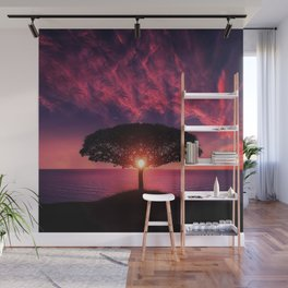 Sunset On The Sea Wall Mural