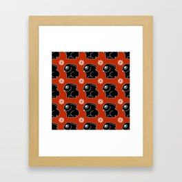 Funny pattern with bunnies Framed Art Print