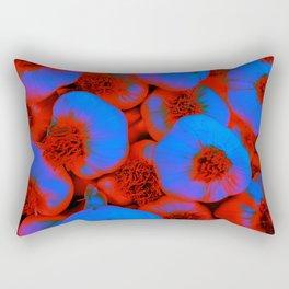 Blue Garlic Cloves Rectangular Pillow
