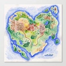 Island of Love Canvas Print