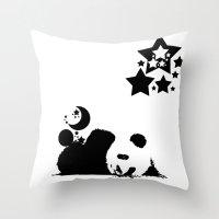 sleep Throw Pillows featuring Sleep by Panda Cool