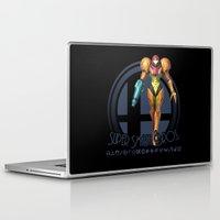 smash bros Laptop & iPad Skins featuring Samus - Super Smash Bros. by Donkey Inferno