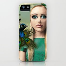 Lady Peacock iPhone Case