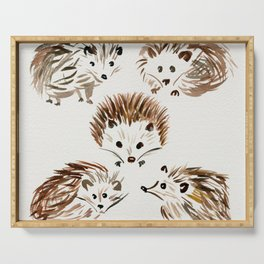Hedgehogs Serving Tray
