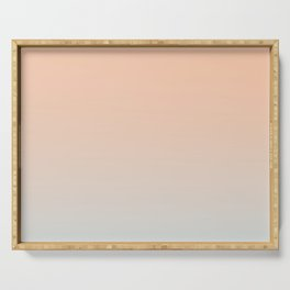 WEST COAST - Minimal Plain Soft Mood Color Blend Prints Serving Tray