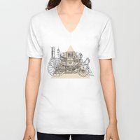 steam punk V-neck T-shirts featuring Steam punk carriage by grop