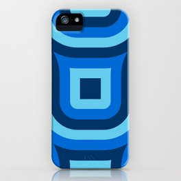 Blue Truchet Pattern iPhone Case