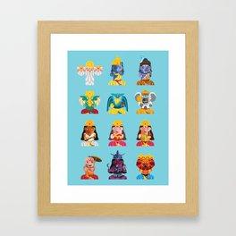 Indian Box Dolls Framed Art Print