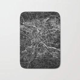 Krakow Black Map Bath Mat