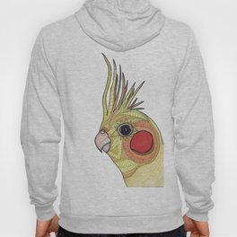 Yellow Ombre Cockatiel Illustration Hoody