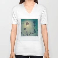 lanterns V-neck T-shirts featuring Lanterns by Leandro