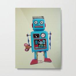 Robotics class Metal Print
