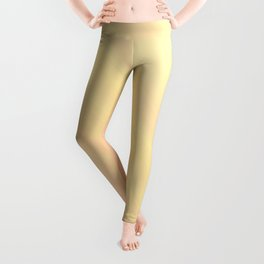 Pastel Ombre Millennial Pink Yellow Diagonal Stripes | Peach, apricot gradient pattern Leggings