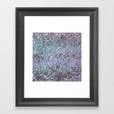 Detailed square, grey'n wedgwood Framed Art Print