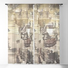 Gifts for the Emperor Sheer Curtain