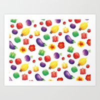 Edible Pattern Art Print