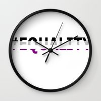 asexual Wall Clocks featuring Asexual Equality  by TwistedRoots