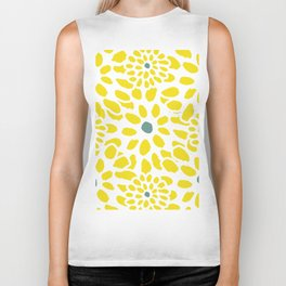 Flowers in Yellow Biker Tank