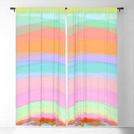 Double Rainbow - Fluor colors - Unicorn dreamers Blackout Curtain