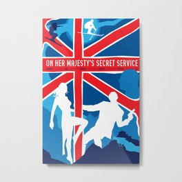 James Bond Golden Era Series :: On Her Majesty's Secret Service Metal Print
