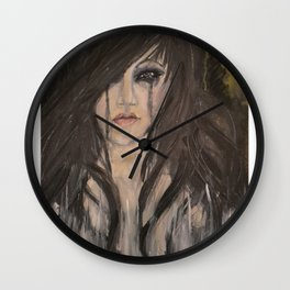 Tears Stains Wall Clock