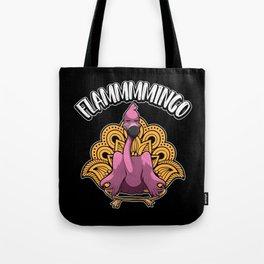 Flammmmingo - Yoga Flamingo Meditates Tote Bag