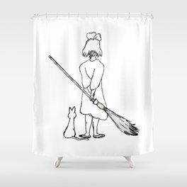 Believe in Yourself (Kiki) - Sketch Shower Curtain