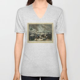 Battle of Gettysburg by Thomas Kelly Unisex V-Neck