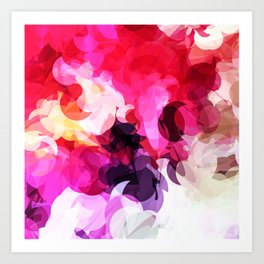 Bright Happy Color Abstract Art Print